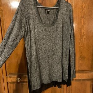 Express sweater, marled gray and black